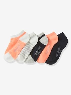 Mid season sale-Girls-Underwear-Pack of 5 Pairs of Invisible Trainer Socks