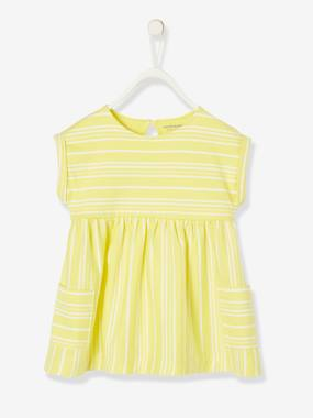Baby-Dresses & Skirts-Striped Dress, for Baby Girls