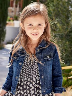 Vertbaudet Collection-Girls Denim Stretch Jacket