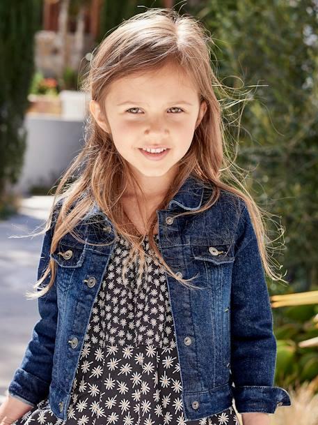 b87d53db3503 Girls Denim Stretch Jacket - blue dark solid, Girls