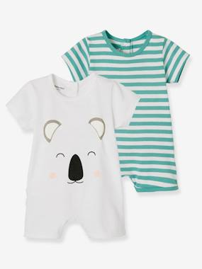 Baby-Pyjamas-Babies' Pack of 2 Short Pyjamas, Cotton