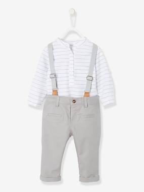 Festive favourite-Baby-Shirt & Trousers with Braces Outfit for Baby Boys