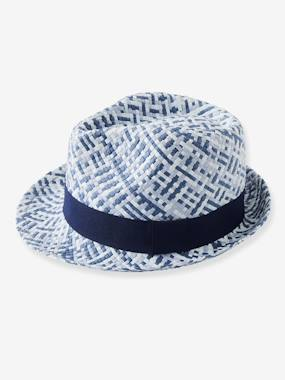 Festive favourite-Boys-Three-Tone Panama-Type Hat for Boys