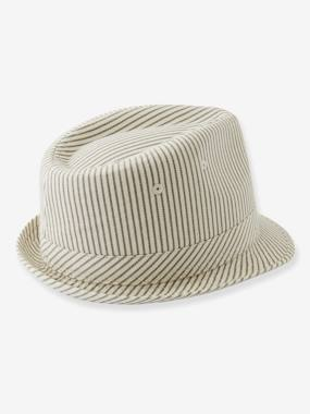 Boys-Accessories-Striped Borsalino-Type Hat for Boys