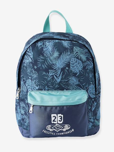 Backpack with Exotic Motif BLUE MEDIUM SOLID WITH DESIGN - vertbaudet enfant