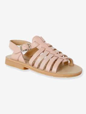 Sandals-Leather Sandals for Girls