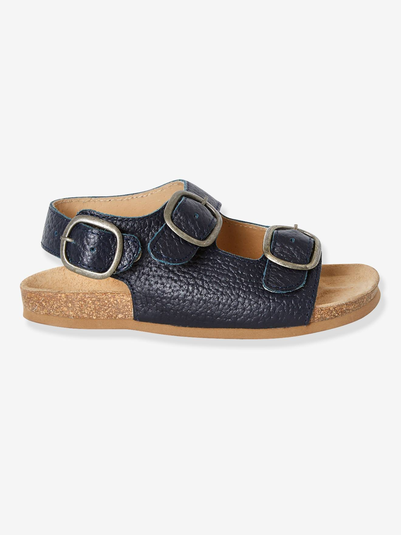 Dark For Anatomic Leather Blue Sandals Boys SolidShoes NP08nOwkX