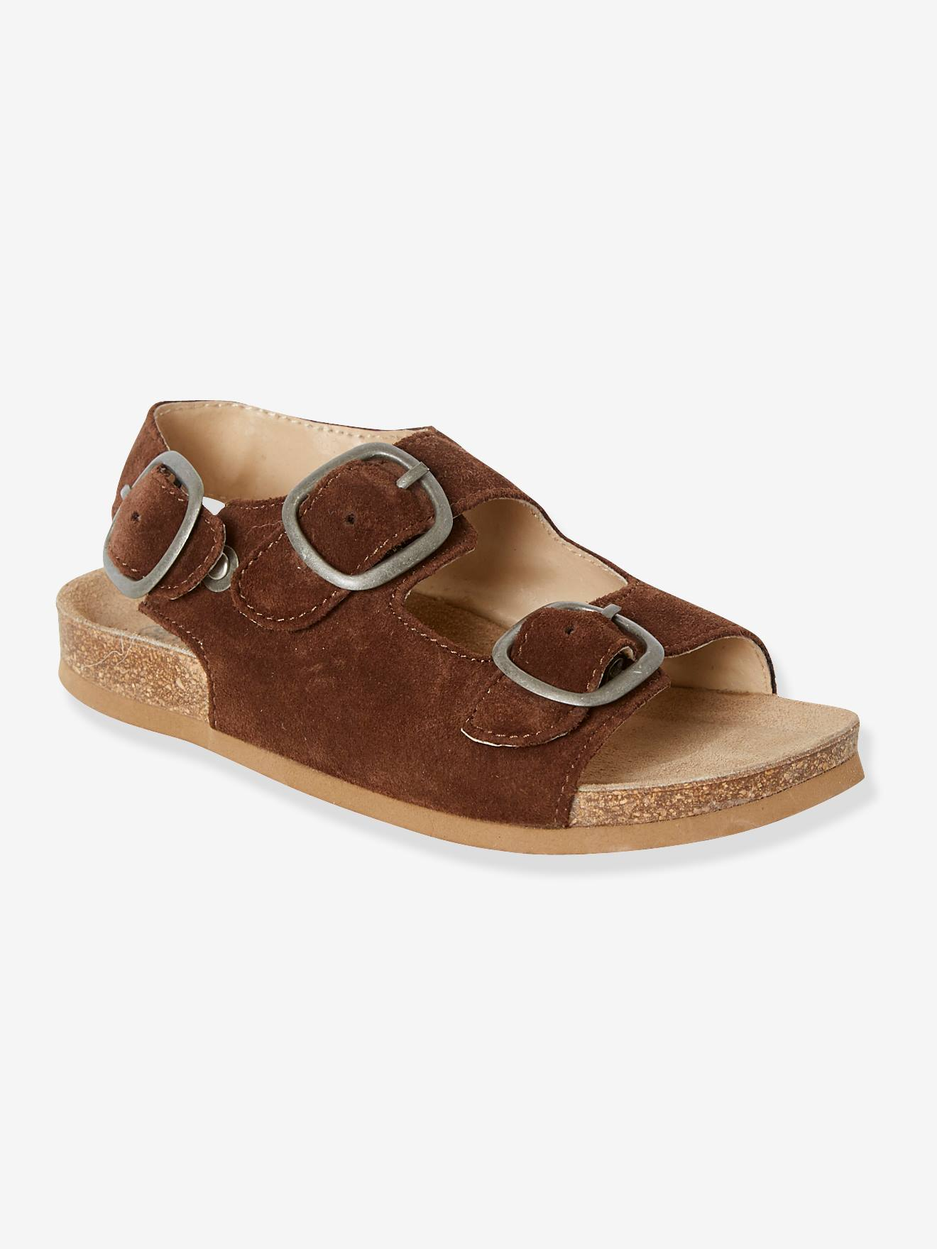 cfc1b8850 Anatomic Leather Sandals for Boys - brown dark solid, Shoes