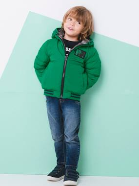 Coat & Jacket-Reversible Jacket for Boys
