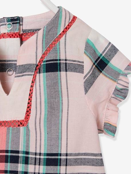 Checked Blouse for Baby Girls PINK LIGHT CHECKS - vertbaudet enfant