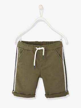 Boys-Shorts-Bermuda Shorts with Side Stripes, for Boys