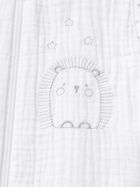 Summer Special Baby Sleep Bag, HERISSON MIGNON WHITE LIGHT SOLID WITH DESIGN - vertbaudet enfant