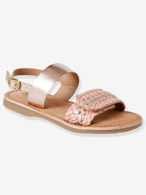 Sandals-Braided Leather Sandals for Girls