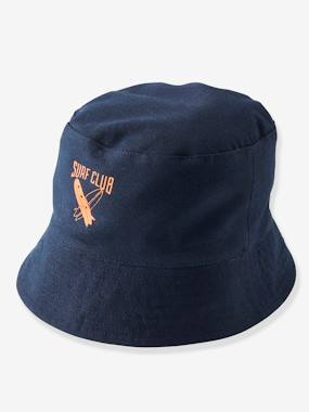 Boys-Accessories-Reversible Bucket Hat for Boys, Hawaiian Motifs