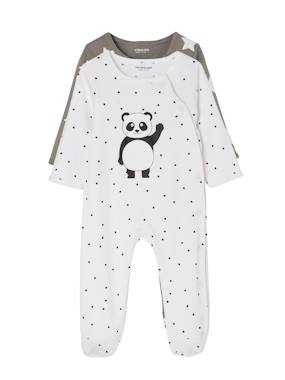 Vertbaudet Collection-Baby-Babies' Pack of 2 Sets of Cotton Pyjamas, Press Studs on the Front