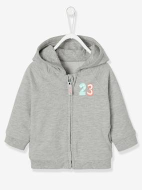 Baby-Jumpers, Cardigans & Sweaters-Baby Boys' Fleece Jacket with Zip