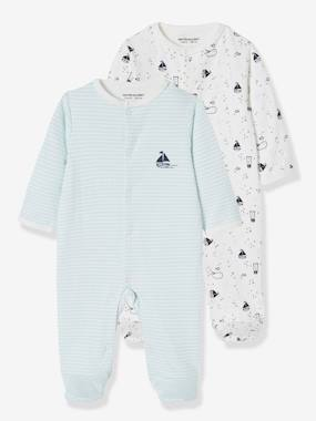 "Baby-Pyjamas-Pack of 2 Sleepsuits for Newborn Baby Boys, ""Sur Les Flots"""