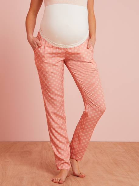 Maternity Printed Pyjama Bottoms PINK LIGHT ALL OVER PRINTED - vertbaudet enfant