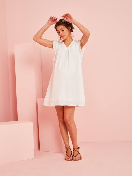 DRESS WHITE LIGHT SOLID - vertbaudet enfant