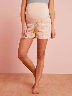 Maternity-Shorts-Printed Maternity Loungewear Shorts