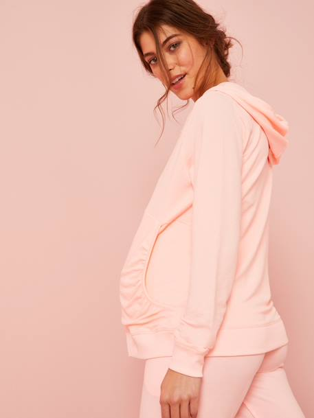 Zipped Maternity Jacket PINK BRIGHT SOLID - vertbaudet enfant