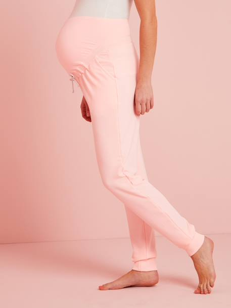 Fleece Maternity Trousers PINK BRIGHT SOLID - vertbaudet enfant