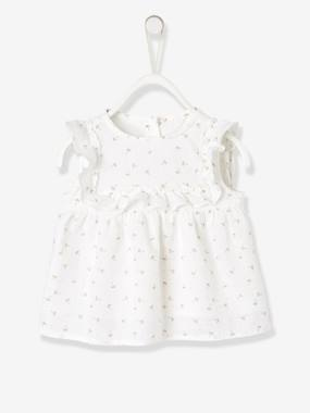Baby-Blouses & Shirts-Blouse with Frill for Baby Girls