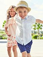 Boys' Short-Sleeved Plain Shirt  - vertbaudet enfant