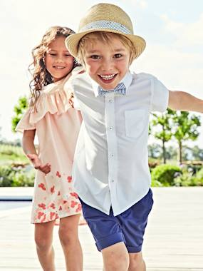 Boys-Shirts-Boys' Short-Sleeved Plain Shirt