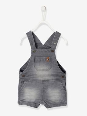 Baby-Dungarees & All-in-ones-Short Denim Dungarees, for Baby Boys