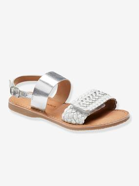 Shoes-Girls Footwear-Braided Leather Sandals for Girls