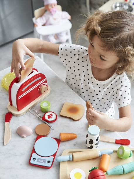 Set toaster en bois MULTICOLOR - vertbaudet enfant