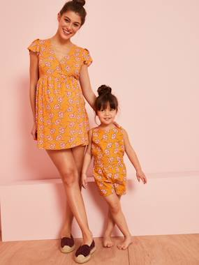Vertbaudet Collection-Maternity-Maternity Playsuit, African Print