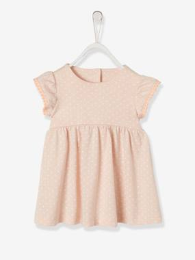 Vertbaudet Sale-Baby-Dress with Ruffles on the Sleeves, for Baby Girls