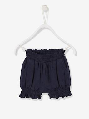 Baby-Shorts-Cotton Gauze Shorts, for Baby Girls