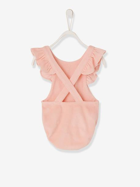 Playsuit in Terry Cloth for Baby Girls PINK LIGHT SOLID - vertbaudet enfant