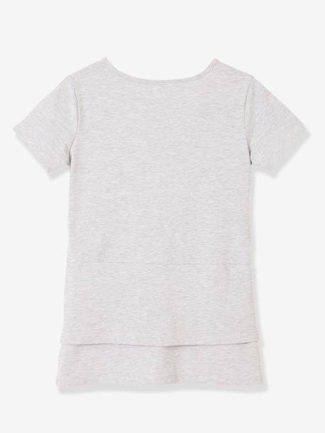 Skin-to-Skin T-Shirt for Premature Babies GREY LIGHT MIXED COLOR - vertbaudet enfant