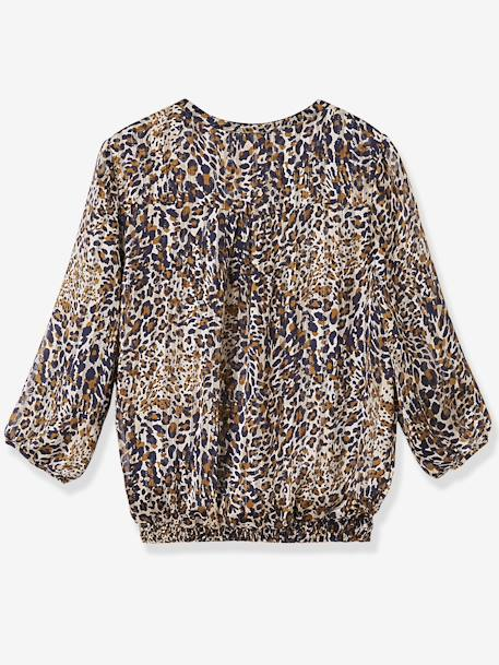 Leopard Maternity Blouse BROWN DARK ALL OVER PRINTED - vertbaudet enfant