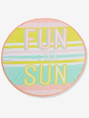 Bedding & Decor-Bathing-Round Beach Towel, Fun In the Sun