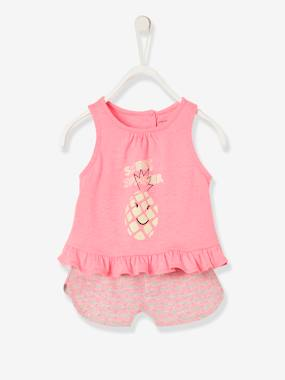 Baby-Outfits-2-Piece Outfit, Top + Shorts for Baby Girls