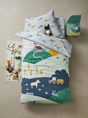 Bedding & Decor-Child's Bedding-Duvet Cover + Pillowcase Set for Children, A LA FERME