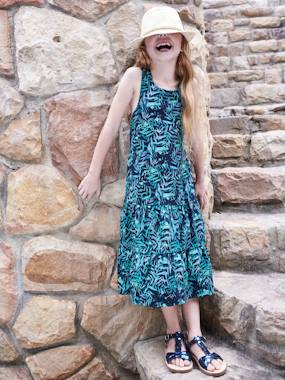 Vertbaudet Sale-Girls-Long Dress for Girls
