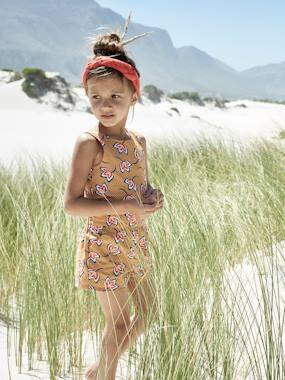 Girls-Dungarees & Playsuits-Playsuit, African Inspiration, for Girls