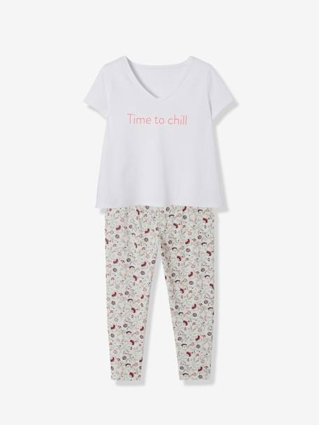 Maternity & Nursing 2-Piece Pyjama Set GREY LIGHT ALL OVER PRINTED - vertbaudet enfant