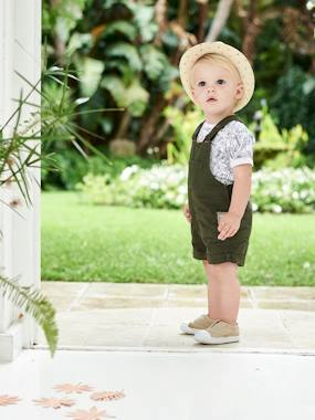 Baby-Dungarees & All-in-ones-Short Dungarees for Baby Boys
