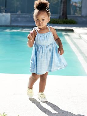 Baby-Dresses & Skirts-Dress with Graphic Swimmers Motif, for Babies