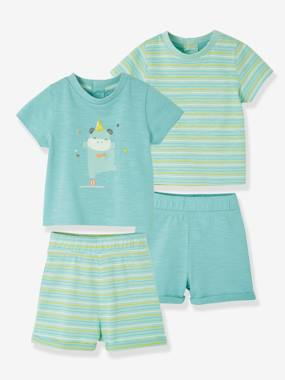 Vertbaudet Sale-Baby-Set of Two 2-Piece Cotton Pyjamas, for Babies
