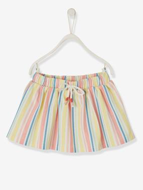 Baby-Dresses & Skirts-Striped Skirt, for Babies