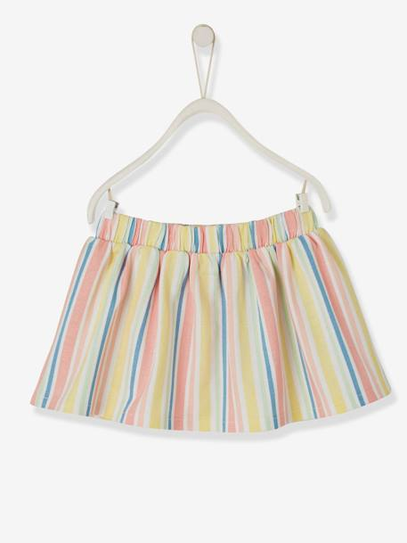 Striped Skirt, for Babies WHITE LIGHT STRIPED - vertbaudet enfant