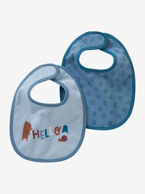 Nursery-Mealtime-Bibs-Pack of 2 Newborn Bibs, Mini Zoo